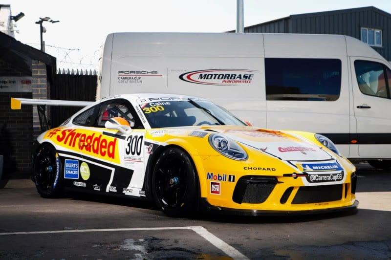 Caine returns to Motorbase Performance to commemorate 300th Carrera Cup GB Race