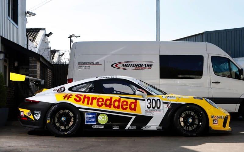Michael Caine Porsche Carrera Cup GB