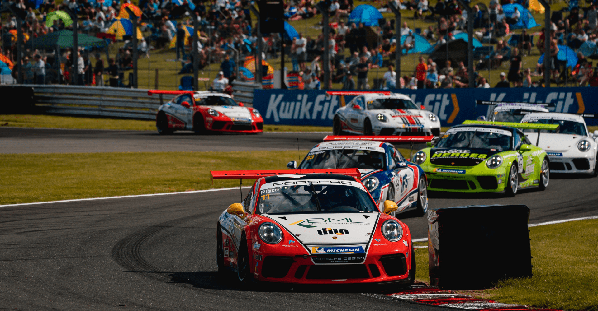 Motorbase Performance eyes championship lead as the Porsche Carrera Cup GB roars into Thruxton
